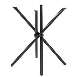 New Spoke Stick Tubular Steel Metal All Black Kitchen or Din