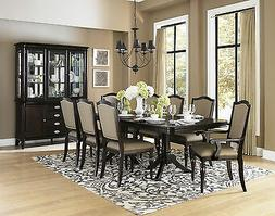 NEW Traditional Dark Brown 9 piece Dining Room Furniture Tab