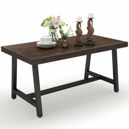 Tribesigns Outdoor Dining Table 55'' Rustic Solid Wood Table