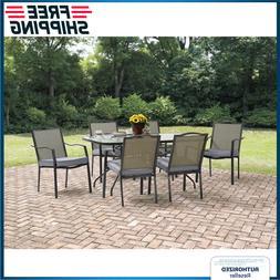 Outdoor Patio Dining Set 7-Piece Backyard Seat Metal W/ Cush