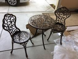 outdoor table and 2 chairs bistro set