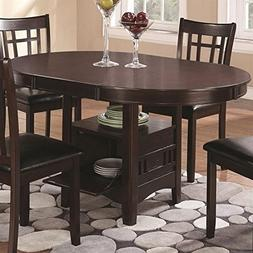 Oval Dining Table in Espresso Finish