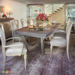 """Overture Luxury Chic 79.5""""-126"""" Dining Table 5pc Set in Cham"""