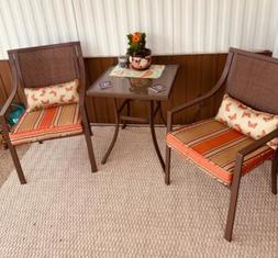 Patio Furniture Set 3 PCS Outdoor Bistro 2 Chairs And Table