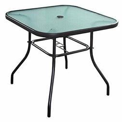 patio table with umbrella hole outside square