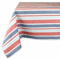 DII Patriotic Stripe Tablecloth