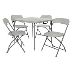 Office Star PCT-05 Table and Chair Set Light Grey