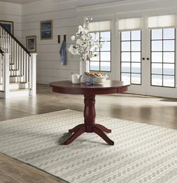 Pedestal Dining Table Round Cottage Furniture Cherry Solid W