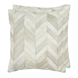 Safavieh Pillow Collection Throw Pillows, 18 by 18-Inch, Mar