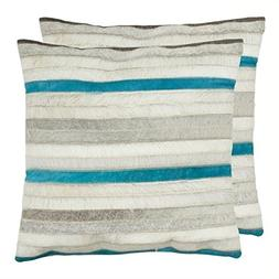 Safavieh Pillow Collection Throw Pillows, 22 by 22-Inch, Qui