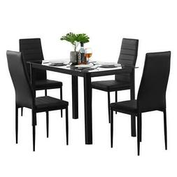 Popular Different Style 5 Piece Dining Table Settables Glass