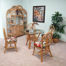 premium quality rattan dining set and shelf