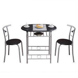 PVC Breakfast <font><b>Table</b></font>  Black For Living Ro