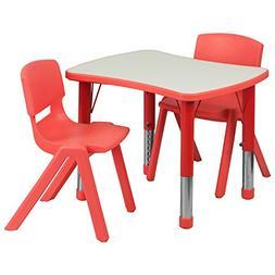 26.63 x 21.88 Rectangular Classroom Table, Red