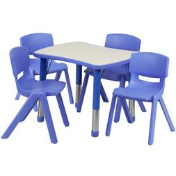 26.63 x 21.88 Rectangular Classroom Table, Blue