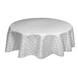 Bardwil Reflections Spill Proof  Oval Tablecloth, 60 X 84-In