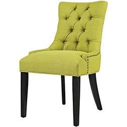 Modway Regent Fabric Dining Chair in Wheatgrass