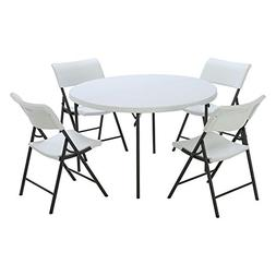 Lifetime Products 48 in. Round Fold-in-Half Table and Chair
