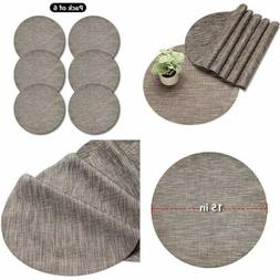 Round Placemats For Dining Tables Kitchens & Outdoors Set Of