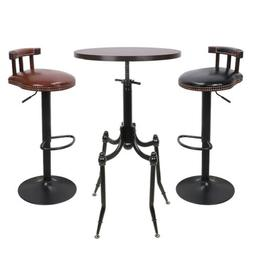Round Pub Table Adjustable Bar Dining Height Tables Bistro F