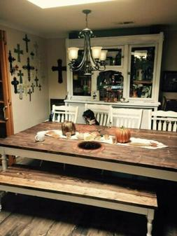 """Rustic  Dining Table - 60"""" - 96"""" LengthBench 72 inches lengt"""