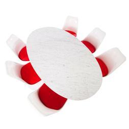 Saarinen Oval Tulip Dining Table Replica - Italian Carrara M