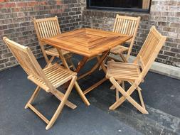 "SALE Solid Teak Wood Outdoor Patio Garden 36"" Square Folding"