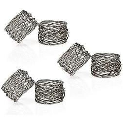 Set Of 6 Silver Plated Handmade Napkin Round Ring Holder For