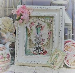 Shabby Chic Vintage French Country Cottage style Wall/Table