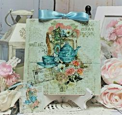 ~ Shabby Chic Vintage French Country Cottage Wall/Table Deco