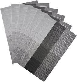 Silver PVC Placemats Washable Vinyl Placemats for Kitchen Ta