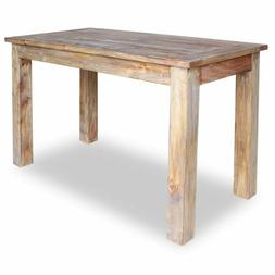 solid reclaimed wood dining table 47 2