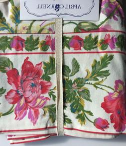 April Cornell Tablecloth Floral French Country Farmhouse ivo