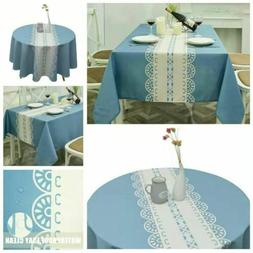 Tablecloth Rectangle&Round Water Proof Table Cover For Dinni