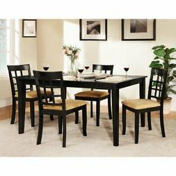 Homelegance Tibalt 5 pc. Rectangle Black Dining Table Set -
