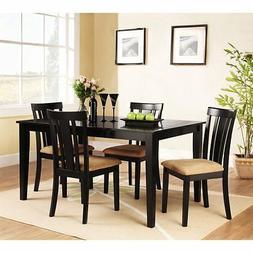 Homelegance Tibalt 5 Piece Rectangle Black Dining Table Set