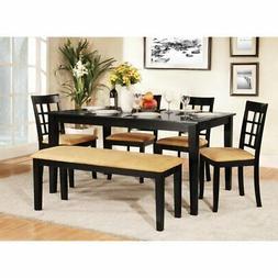 Homelegance Tibalt 6 pc. Rectangle Black Dining Table Set -