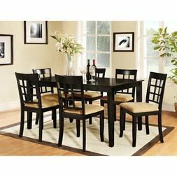 Homelegance Tibalt 7 pc. Rectangle Black Dining Table Set -