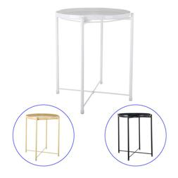 Tray Metal End Table, Sofa Table Small Round Side Tables,A