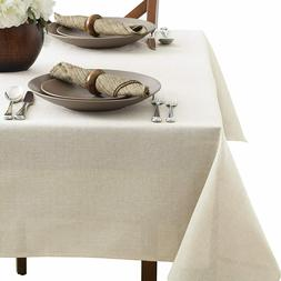 Benson Mills Tweed Tablecloth 60x104 Ivory Oblong Washable D