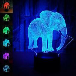 USB 7 Colors Changing Night Light Desk Table 3D LED illusion