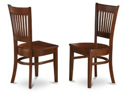 Set of 2 Vancouver dinette kitchen dining chairs w/ plain wo