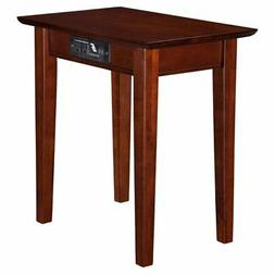 Atlantic Furniture Vienna Chair Side Table with Charging Sta