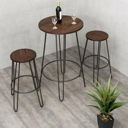 Industrial Style Bar Table and Stools Vintage Bistro Set Bre