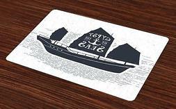 vintage boat placemats set of 4 washable