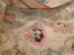 Vintage French style table cloth map square