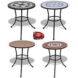 Vintage Mosaic Table Outdoor Dining Coffee Bistro Patio Balc