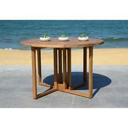Safavieh Wales Round 47.24-Inch Dia Dining Table Brown