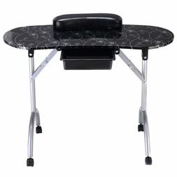 white manicure nail table portable station desk