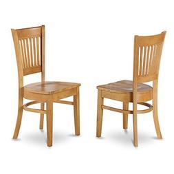 East West Furniture Wood Seat Kitchen Dining Chairs In Oak F